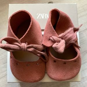Zara suede booties